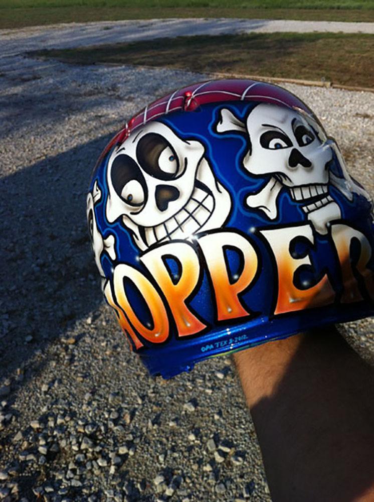 custom batting helmet